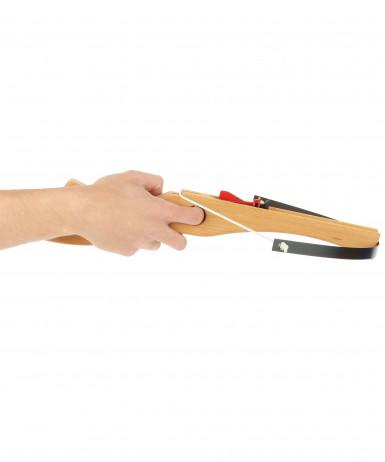 Hölzerne Armbrust 45 cm mit 3 Pfeilen-1