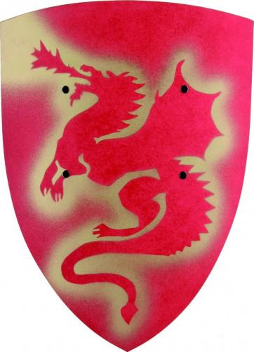 Ritter Schutzschild mit Drachenmuster für Kinder