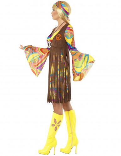 Retro Hippie Kostüm für Damen-1