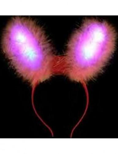 Hasenohren mit LED Leuchten für Erwachsene Einheitsgröße