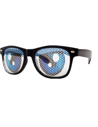 Brille blaue Party-Augen