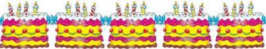 3 Meter lange Geburtstagstorten-Girlande