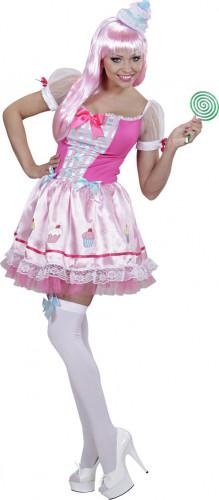 Rosa Cupcake Kostüm für Damen