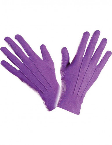 Kurze lila Handschuhe für Erwachsene-1