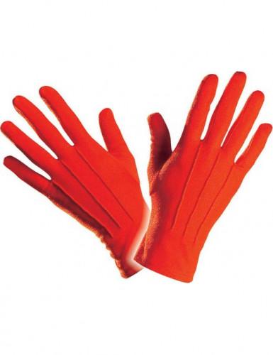 Kurze rote Handschuhe für Erwachsene