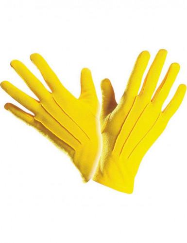 Kurze gelbe Handschuhe für Erwachsene-1