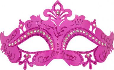 Venezianische Maske in rosa-1