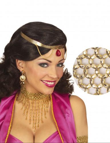 Halskette mit goldenen Perlen