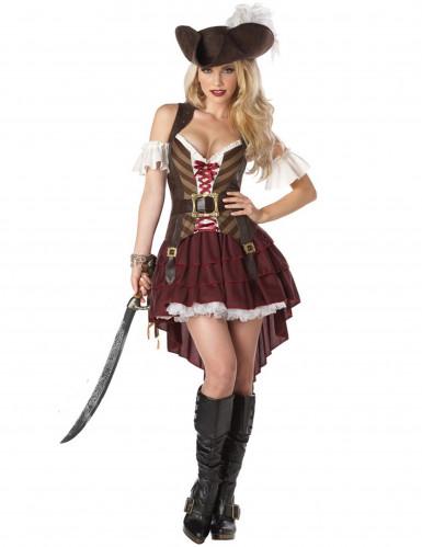 Abenteuerliches Piratenkostüm Steampunk für Damen