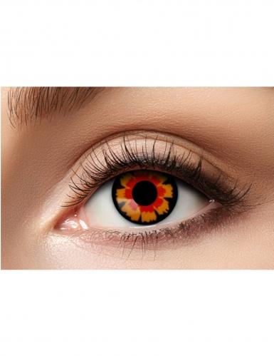 Kontaktlinsen schwarz-rot