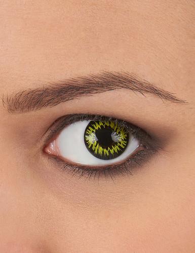 Kontaktlinsen schwarz-gelb