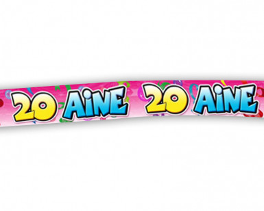 Banderole zum 20. Geburtstag
