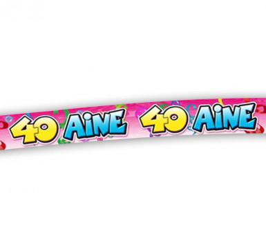 Banner für den 40. Geburtstag