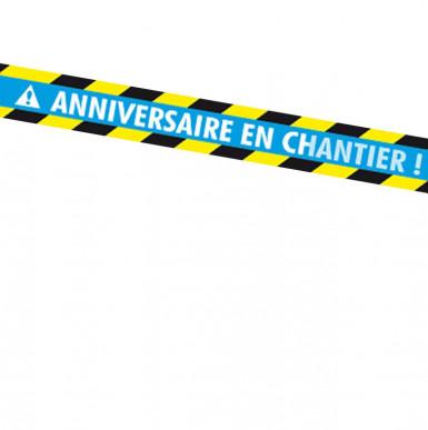 Banner mit der Nachricht anniversaire en chantier