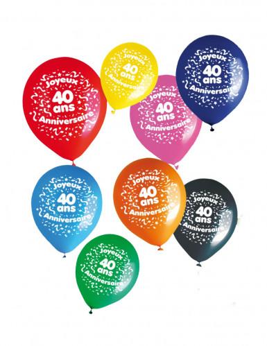 8 Ballons für den 40. Geburtstag