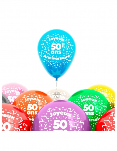 8 Alles Gute zum 50. Geburtstag Luftballons 25 cm