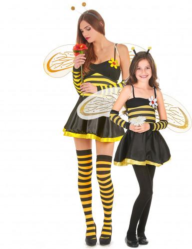Bienen Paarkkostüm für Mutter-Tochter