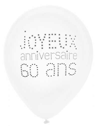 8 Alles Gute zum 60. Geburtstag Luftballons 25 cm