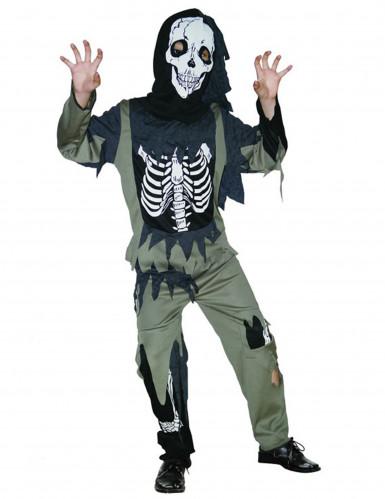 Zombie-Skelett Kinderkostüm