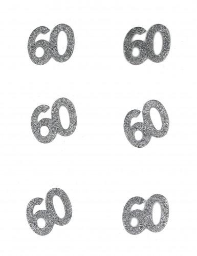 Geburtstags-Konfetti - Zahl 60