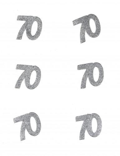 70 Jahre-Konfetti silberfarben 5x6cm 10g