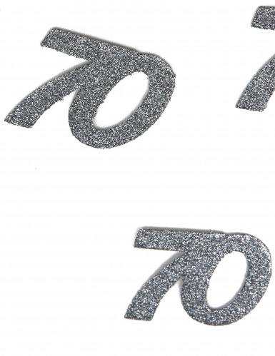 70 Jahre-Konfetti silberfarben 5x6cm 10g-1