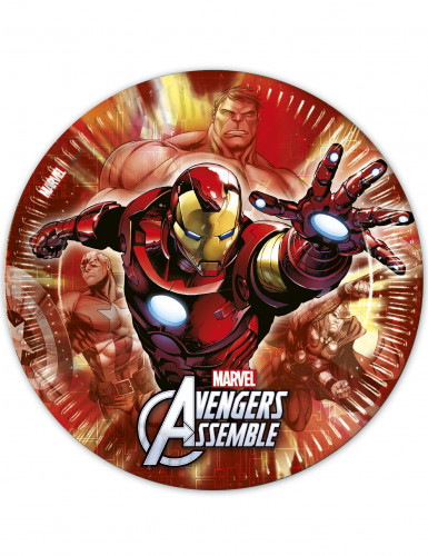 8 Avengers™ Pappteller groß