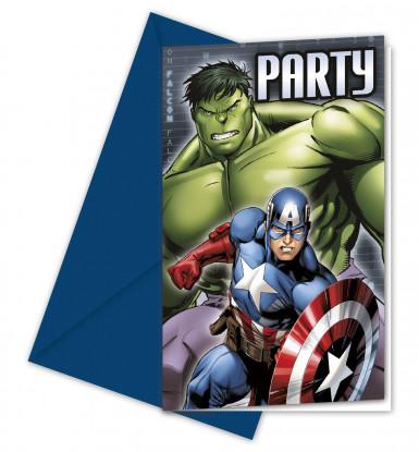 6 Avengers™ Einladungskarten