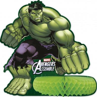 Avengers™ Tischdekoration mit Wabenpapier grün