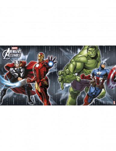 4 Avengers™ Platzsets 22x30 cm grau