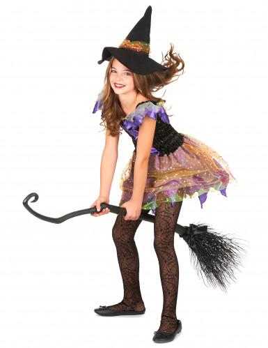 Buntes Hexe-Kostüm für Mädchen-1