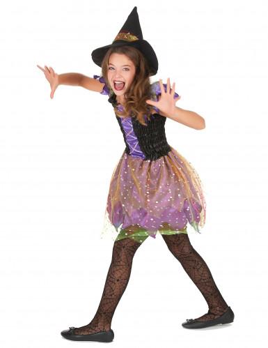 Buntes Hexe-Kostüm für Mädchen-2
