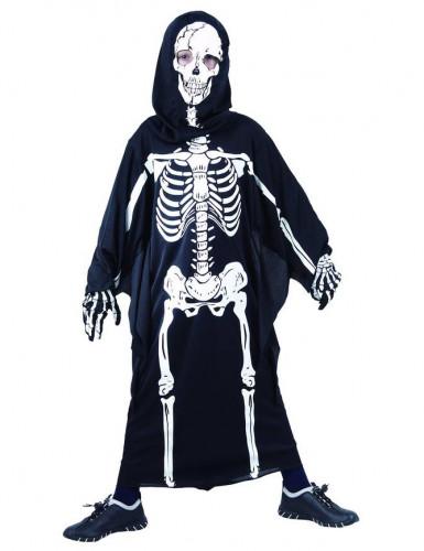Skelettkostüm für Kinder schwarz-weiss