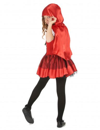 Rotkäppchen-Mädchenkostüm für Fasching schwarz-weiss-rot-2