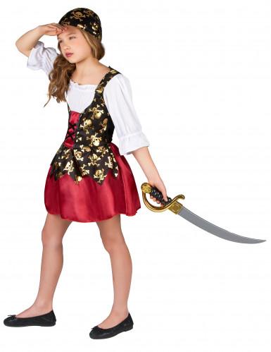 Kostüm für ein Piratenmädchen-1