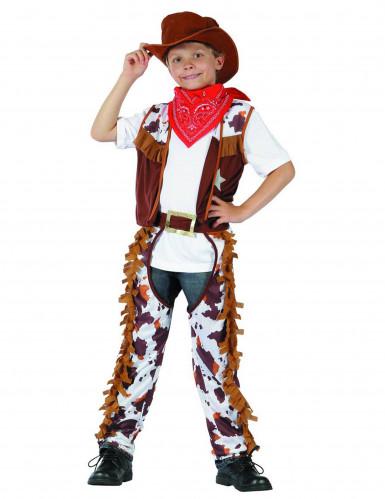 Cowboy-Kostüm für Jungen Western braun-weiss