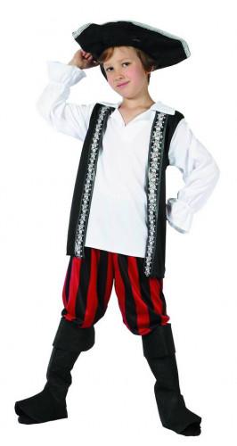 Piratenkostüm mit Totenköpfen für Jungen