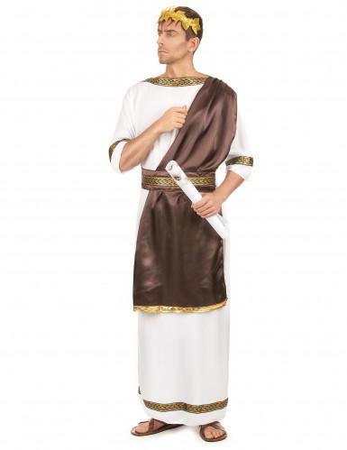 Römisches-Adelskostüm für Herren braun-weiss-goldfarben-1
