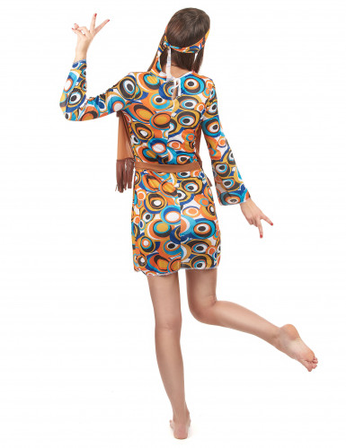 Hippie-Kostüm 60er Jahre für Damen bunt-2