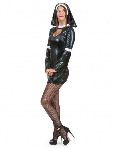 Sexy Nonnen Kostüm für Frauen-1