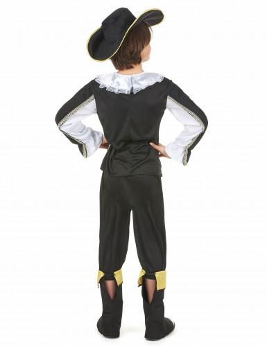 Schwarz - goldenes Musketier Kostüm für Jungen-2