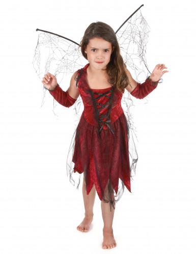 kaufen auf Füßen Aufnahmen von Beste Böse Fee Kostüm für Mädchen in rot-schwarz