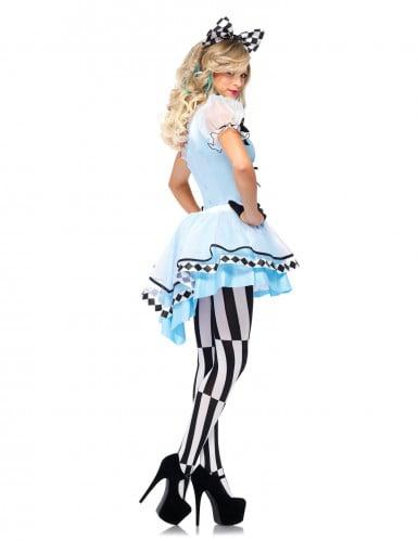 Wunderland Prinzessin Kostüm für Damen hellblau 3-teilig-1