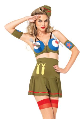 Kostüm Kampfpilotin sehr sexy-2