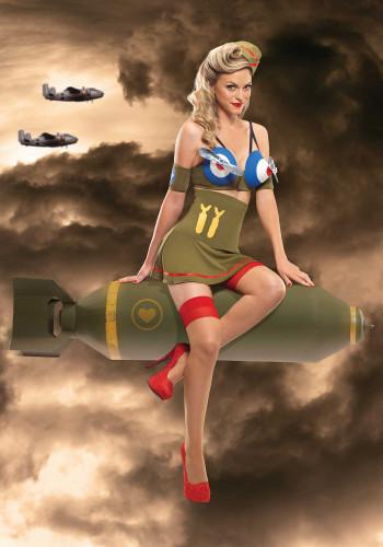 Kostüm Kampfpilotin sehr sexy-1