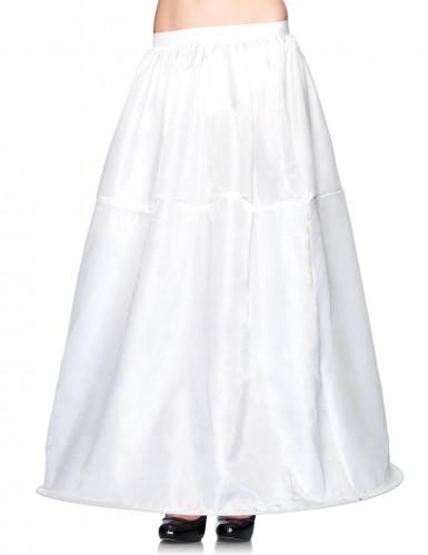 Langer weißer Reifrock für Damen