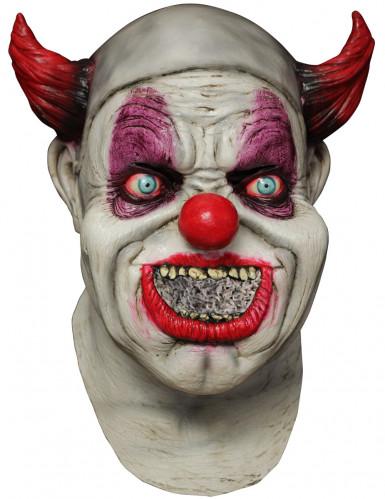 Böser Clown Maske für Erwachsene - mit App im Mund