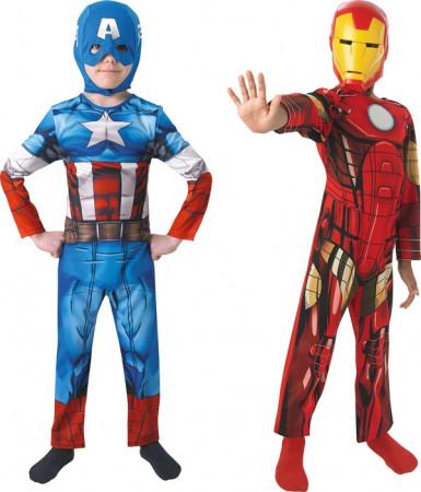 Captain America™ und Iron Man™ Kostüm-Pack für Kinder