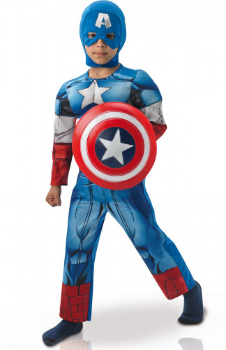 Deluxe Captain America™ Avengers-Kostüm für Kinder