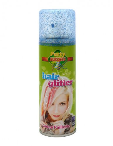 Blaues Haarspray mit Pailletten 125 mL